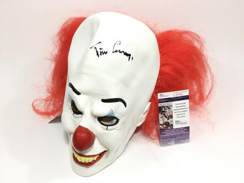 Tim Curry Signed Pennywise Clown Mask JSA Coa It Movie