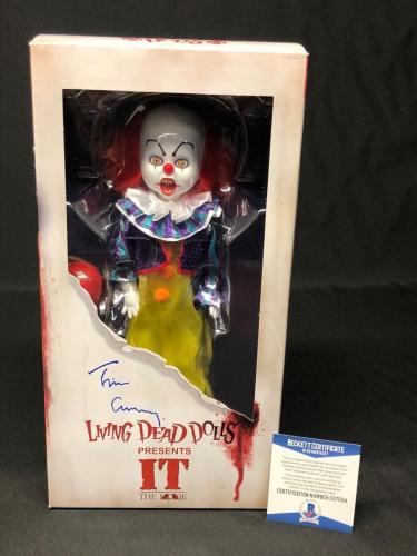 Tim Curry Signed Pennywise 'Living Dead Dolls' *IT The Movie BAS BEckett E07034