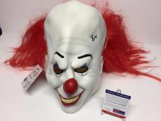 Tim Curry Signed Pennywise Prop Mask *Stephen King Horror 'It' PSA