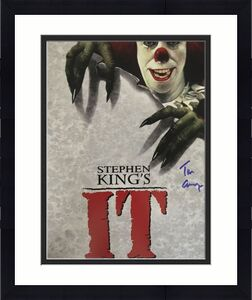 TIM CURRY Signed Pennywise Stephen King IT 8x10 Photo Beckett BAS COA Proof