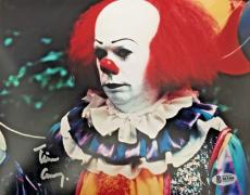 TIM CURRY Signed Pennywise Stephen King IT 8x10 Photo Beckett BAS COA Proof H