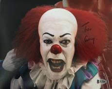 TIM CURRY Signed Pennywise Stephen King IT 8x10 Photo Beckett BAS COA Proof I