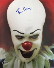 TIM CURRY Signed Pennywise Stephen King IT 8x10 Photo Beckett BAS COA Proof K