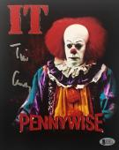 TIM CURRY Signed Pennywise Stephen King IT 8x10 Photo Beckett BAS COA Proof N