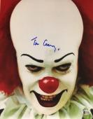 TIM CURRY Signed Pennywise Stephen King's IT 11x14 Photo Beckett BAS COA AUTO