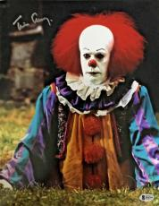 TIM CURRY Signed Pennywise Stephen King's IT 11x14 Photo Beckett BAS COA B Proof