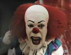 TIM CURRY Signed Pennywise Stephen King's IT 11x14 Photo Beckett BAS COA E Proof