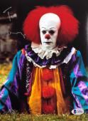 TIM CURRY Signed Pennywise Stephen King's IT 8x10 Photo Beckett BAS COA B Proof