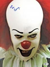 TIM CURRY Signed Pennywise Stephen King's IT 8x10 Photo Beckett BAS COA D Proof