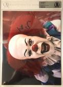 TIM CURRY Signed Pennywise Stephen King's IT 8x10 SLABBED Photo Beckett BAS B
