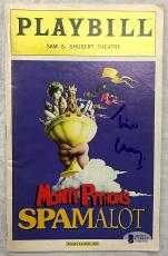 Tim Curry Signed Playbill Monty Python's Spamalot Autographed Bas Beckett Coa