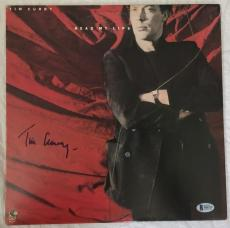 TIM CURRY Signed Read My Lips LP Record Rocky Horror BAS Beckett COA Autograph
