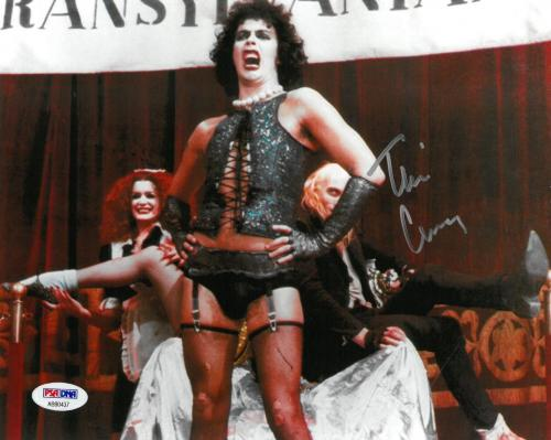 Tim Curry Signed Rocky Horror Authentic Autographed 8x10 Photo PSA/DNA COA