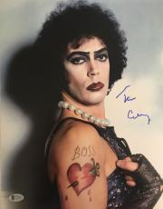 TIM CURRY Signed Rocky Horror Picture Show 11x14 Photo Beckett BAS COA!#