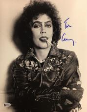 TIM CURRY Signed Rocky Horror Picture Show 11x14 Photo Beckett BAS COA AUTO B