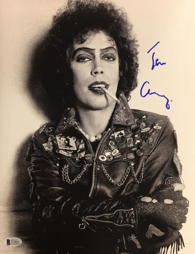 TIM CURRY Signed Rocky Horror Picture Show 11x14 Photo Beckett BAS COA AUTO D
