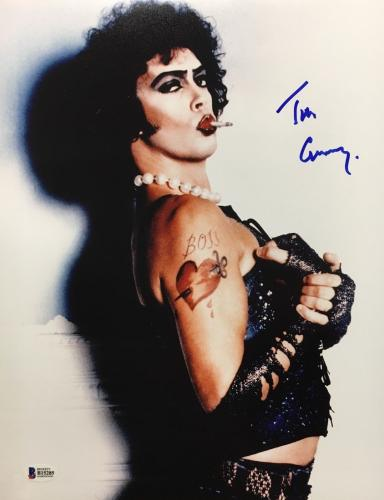 TIM CURRY Signed Rocky Horror Picture Show 11x14 Photo Beckett BAS COA AUTO A