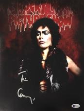 TIM CURRY Signed Rocky Horror Picture Show 11x14 Photo Beckett BAS COA D Proof