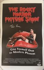 TIM CURRY Signed Rocky Horror Picture Show 11x17 Canvas Print PSA/DNA COA Proof