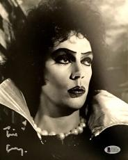 TIM CURRY Signed Rocky Horror Picture Show 8x10 Photo Auto Beckett BAS COA