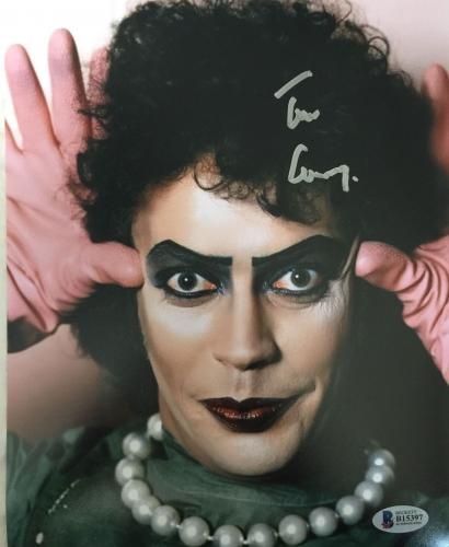 TIM CURRY Signed Rocky Horror Picture Show 8x10 Photo Beckett BAS COA Proof A