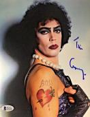 TIM CURRY Signed Rocky Horror Picture Show 8x10 Photo Beckett BAS COA Proof B