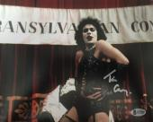 TIM CURRY Signed Rocky Horror Picture Show 8x10 Photo Beckett BAS COA Proof D