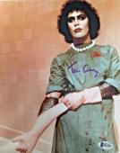 TIM CURRY Signed Rocky Horror Picture Show 8x10 Photo Beckett BAS COA Proof E