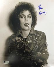 TIM CURRY Signed Rocky Horror Picture Show 8x10 Photo Beckett BAS COA Proof F