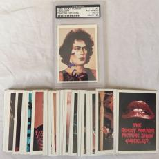 TIM CURRY Signed Rocky Horror Picture Show Trading Card 1975 Set PSA/DNA Slabbed