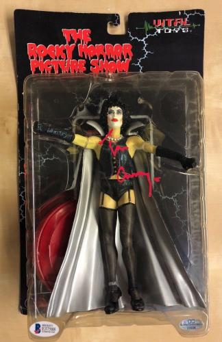 TIM CURRY Signed Rocky Horror Picture Show VITAL TOYS FIGURE BAS COA OCCM AUTO
