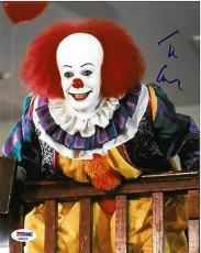 "Tim Curry Signed Stephen King's ""IT"" Autographed 8x10 Photo PSA/DNA #3"