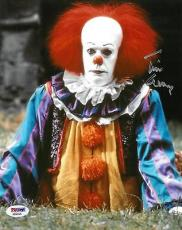 "Tim Curry Signed Stephen King's ""IT"" Autographed 8x10 Photo PSA/DNA #AB90326"