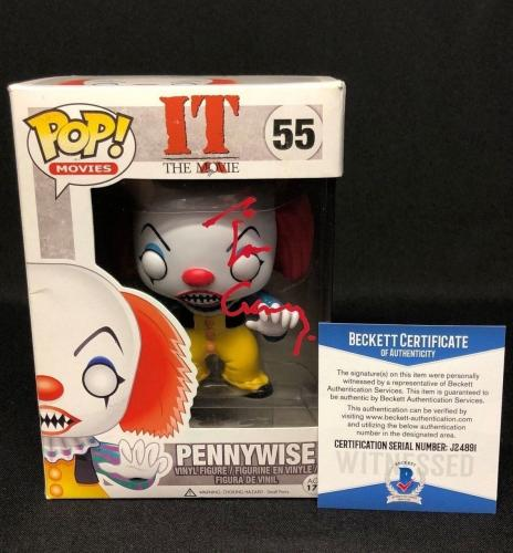 Tim Curry Signed Stephen King's 'IT' Pennywise Funko Pop Figure Beckett BAS 4891