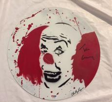 TIM CURRY Signed Stephen Kings IT Pennywise Painted Record PSA/DNA COA Autograph
