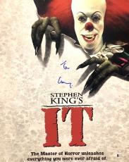 TIM CURRY Signed Stephen Kings IT16x20 Photo Beckett BAS AUTO COA A