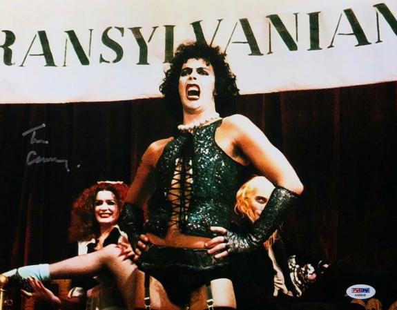 Tim Curry Signed 'The Rocky Horror Picture Show' 11x14 Photo PSA AA60648