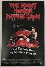 TIM CURRY Signed The Rocky Horror Picture Show 11x17 Photo Beckett BAS COA