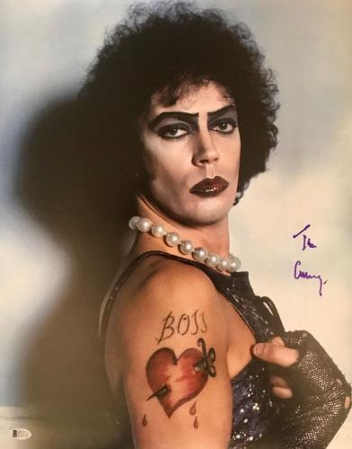 TIM CURRY Signed The Rocky Horror Picture Show 16x20 Photo Beckett BAS AUTO COA