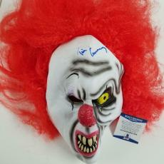 """TIM CURRY Stephen King's """"IT"""" Signed Auto Autograph PENNYWISE Clown Mask PSA/DNA"""