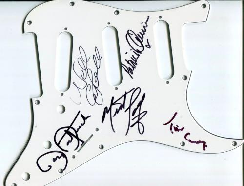 Tim Curry The Rocky Horror Picture Show & Cast Rare Signed Guitar Pickguard