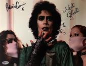 TIM CURRY Triple Signed Rocky Horror Picture Show 11x14 Photo BAS COA