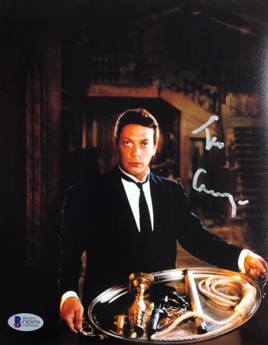 TIM CURRY WADSWORTH Signed CLUE Movie Poster 8x10 Photo Beckett BAS COA AUTO