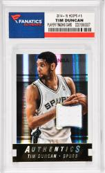 Tim Duncan San Antonio Spurs 2014-15 Hoops #5 Card with a Piece of Game Worn Jersey