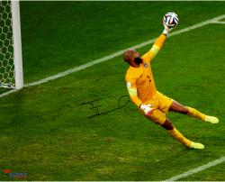 "Tim Howard Team USA Autographed 16"" x 20"" Yellow Jersey Photograph"
