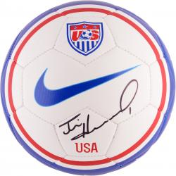 Tim Howard Team USA Autographed Blue Soccer Ball