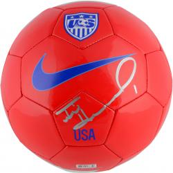 Tim Howard Team USA Autographed Red Soccer Ball