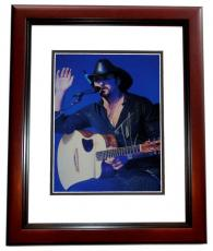 Tim McGraw Signed - Autographed 11x14 inch Photo MAHOGANY CUSTOM FRAME - Guaranteed to pass PSA or JSA
