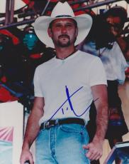 Tim Mcgraw Signed - Autographed 8x10 Concert Photo - Guaranteed to pass PSA or JSA