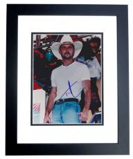 Tim Mcgraw Signed - Autographed 8x10 Concert Photo BLACK CUSTOM FRAME - Guaranteed to pass PSA or JSA